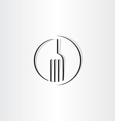 stylized fork sign icon logo vector image vector image