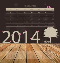 2014 calendar monthly calendar template vector
