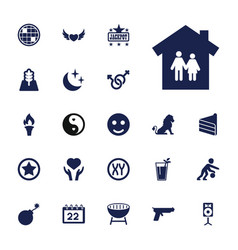 22 abstract icons vector