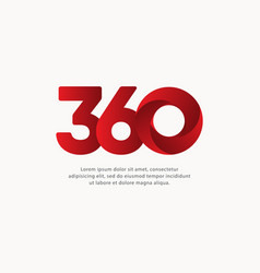 360 number text template design vector