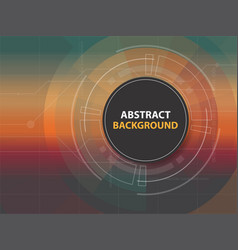 Abstract circle digital technology background vector