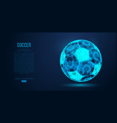 abstract silhouette a soccer ball football vector image