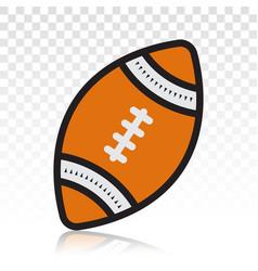 American football ball or gridiron football flat vector