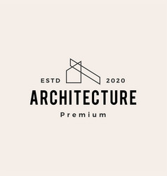 architecture hipster vintage logo icon vector image