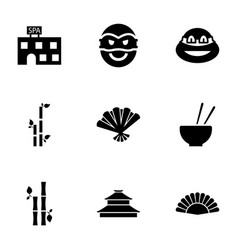 Asia icons vector