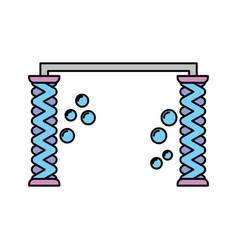 automatic wash water shampoo equipment vector image