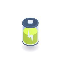 battery indicator isometric icon vector image