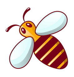 bee icon cartoon style vector image