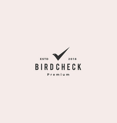 bird check mark logo icon vector image