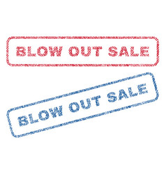Blow out sale textile stamps vector