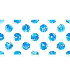 Blue painted dots pattern vector