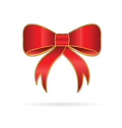 bow happiness red vector image