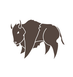 buffalo running bison graphic vector image