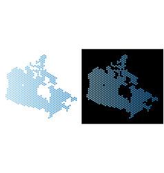 canada map hexagon mosaic vector image