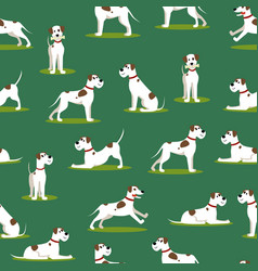 Cartoon color funny puppy seamless pattern vector