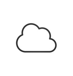 clouds icons black linear design vector image