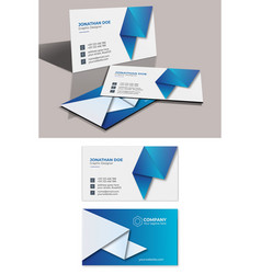 Corporate business card template 2020 vector