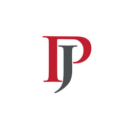 creative letter jp logo vector image
