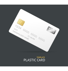 credit card template vector image