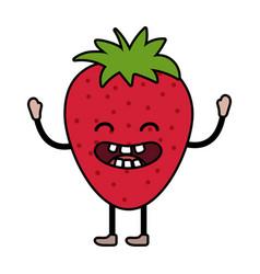delicious tasty fruit cartoon vector image