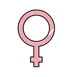 Female symbol isolated icon vector