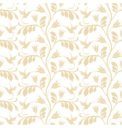 Floral pattern Hummingbird vector