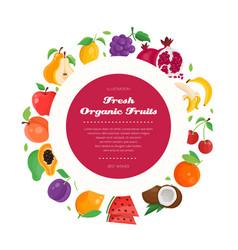 Fresh organic fruit - modern colorful vector