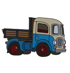 funny old blue and cream truck vector image