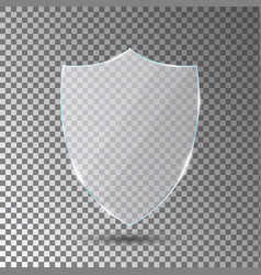 Glass shield on transparent background acrylic vector