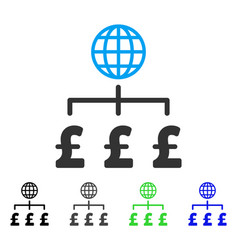 Global pound payments flat icon vector
