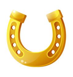 golden horseshoe flat isolated vector image