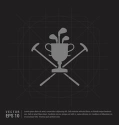 golf bat icon - black creative background vector image