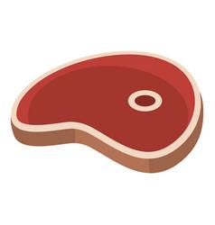 Ham steak icon flat style vector
