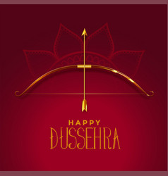 Happy dusshera beautiful festival card with vector