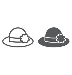 hat line and glyph icon clothing and fashion vector image
