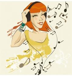 headphone sally vector image