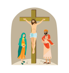 Holy week good friday crucifixion of jesus and vector