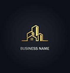 Home modern building realty logo vector