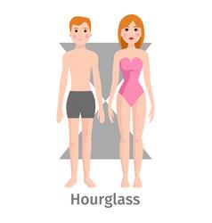 Hourglass body shape types vector