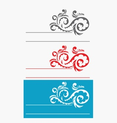 Label ornate vector image