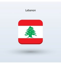 Lebanon flag icon vector image