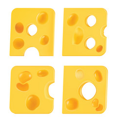 letters from pieces cheese a b c d vector image