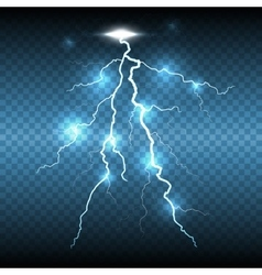 Lightning flash strike transparent background vector