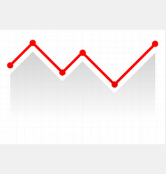 Line graph element graph chart over gridded vector
