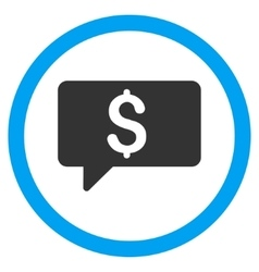 Money Message Flat Rounded Icon vector image
