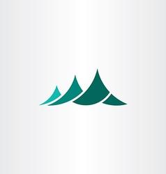 mountain symbol logo element sign vector image