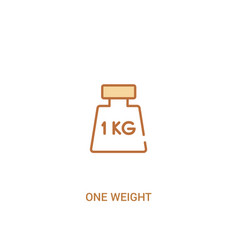 One weight concept 2 colored icon simple line vector