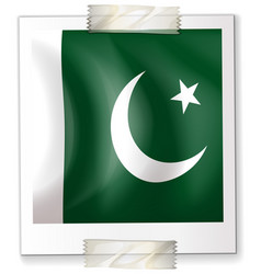 pakistan flag on paper vector image
