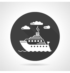 Passenger steamer round icon vector