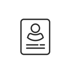 personal info data icon isolated line vector image